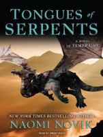 Cover image for Tongues of serpents [sound recording (book on CD)]
