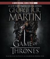 Cover image for A game of thrones [sound recording (book on CD)]