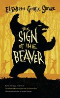 Cover image for The sign of the beaver [large type]