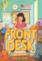 Cover image for Front desk [large type]