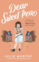 Cover image for Dear Sweet Pea [large type]