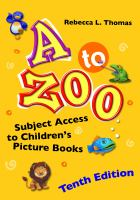 Cover image for A to zoo : subject access to children's picture books
