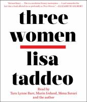 Cover image for Three women [sound recording (book on CD)]