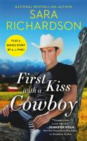 Cover image for First kiss with a cowboy