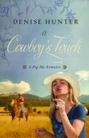 Cover image for A cowboy's touch [large type]: a big sky romance