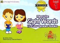 Cover image for Meet the sight words [kit] : 12 easy reader books. Level 1