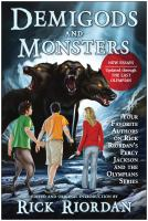 Cover image for Demigods and monsters : your favorite authors on Rick Riordan's Percy Jackson and the Olympians series
