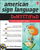 Cover image for American Sign Language demystified
