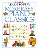 Cover image for More Easy Piano Classics