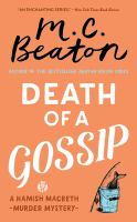 Cover image for Death of a gossip