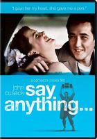 Cover image for Say anything-- [videorecording (DVD)]
