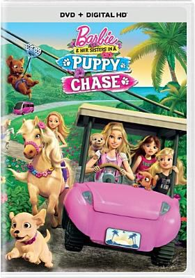 Cover image for Barbie & her sisters in a puppy chase [videorecording (DVD)].