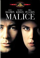 Cover image for Malice [videorecording (DVD)]