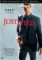 Cover image for Justified. The complete first season [videorecording (DVD)]