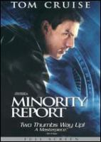 Cover image for Minority report [videorecording (DVD)]