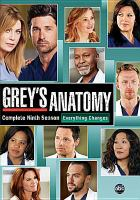 Cover image for Grey's anatomy. Complete ninth season [videorecording (DVD)]