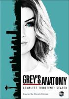 Cover image for Grey's anatomy. Complete thirteenth season [videorecording (DVD)]