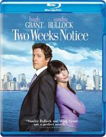 Cover image for Two weeks notice [videorecording (Blu-ray)]