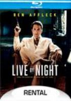 Cover image for Live by night [videorecording (Blu-ray)]