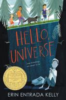 Cover image for Hello, universe [sound recording (book on CD)]