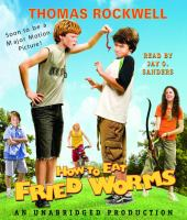Cover image for How to eat fried worms [sound recording (book on CD)]