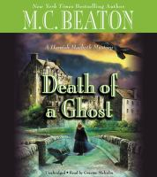 Cover image for Death of a ghost [sound recording (book on CD)]