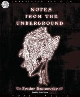 Cover image for Notes from the underground [sound recording (book on CD)]