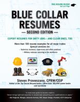 Blue collar resumes : expert resumes for dirty jobs, and clean ones, too