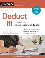 Deduct it! : lower your small business taxes