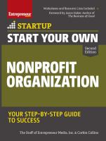 Start your own nonprofit organization : your step-by-step guide to success