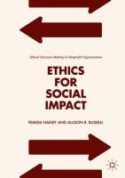 Ethics for social impact : ethical decision-making in nonprofit organizations