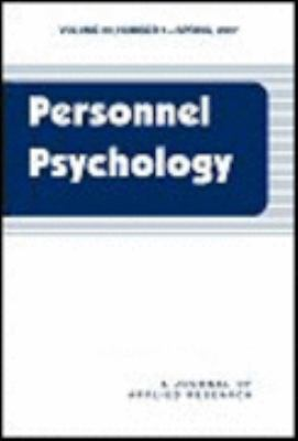 Personnel Psychology (1 Year Embargo) Book Cover