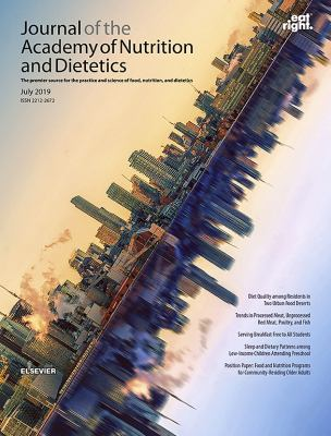 Journal of the Academy of Nutrition and Dietetics Book Cover