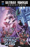 Cover art for Batman, Teenage Mutant Ninja Turtles adventures. Through the looking glass