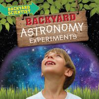 Cover image for Backyard astronomy experiments