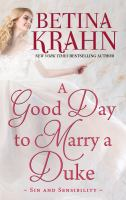 Cover art for A good day to marry a duke [Large Print]