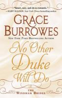 Cover art for No other duke will do [Large Print]