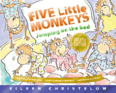 Five little monkeys jumping on the bed image cover