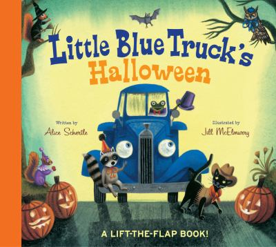 Little Blue Truck's Halloween : a lift-the flap book! image cover