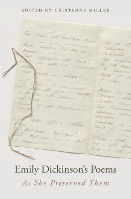 Cover image for Emily Dickinson's poems : as she preserved them