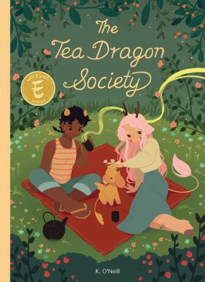 The Tea Dragon Society / written & illustrated by Katie O'Neill ; lettered by Saida Temofonte ; designed by Hilary Thompson ; edited by Ari Yarwood. image cover