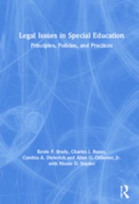 Cover image for Legal issues in special education : principles, policies, and practices