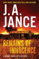 Cover image for Remains of innocence : a Brady novel of suspense