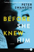 Cover image for Before she knew him
