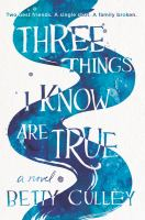 Cover image for Three things I know are true : a novel