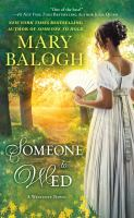 Cover image for Someone to wed : a Westcott novel