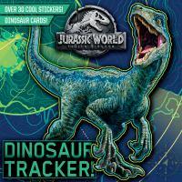 Cover image for Jurassic World, fallen kingdom. Dinosaur tracker!