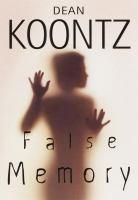 Cover image for False memory
