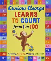 Cover image for Curious George learns to count from 1 to 100