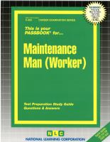 Cover image for Maintenance man (worker)